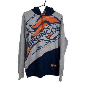 Denver Broncos NFL Hoodie Mens Size M Multicoloured Sweatshirt Classic Fit